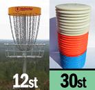 Golfkorgar DisCatcher 12st + 30 hyrdisc