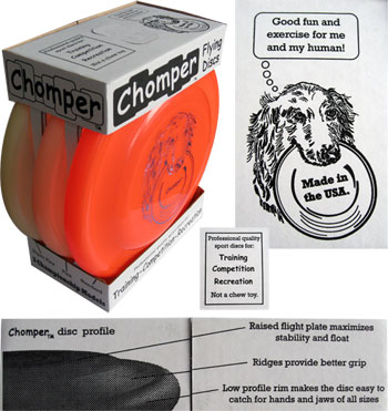 Chomper 3-Pack Dog Frisbee Fastback