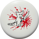 Bad Kitty 130g Sport Frisbee White